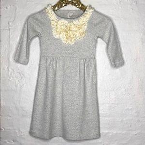CREWCUTS cotton dress with ruffles